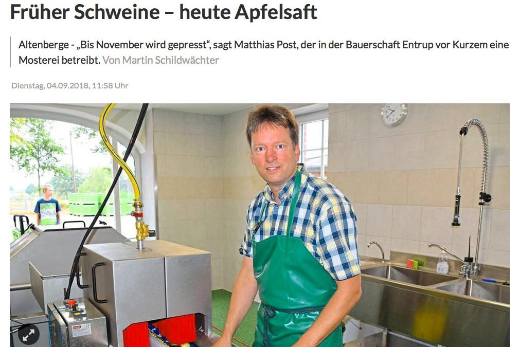 Neue Mosterei im Münsterland