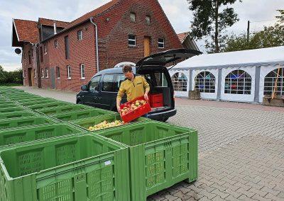 Mosterei Post Altenberge - Die Apfel Anlieferung