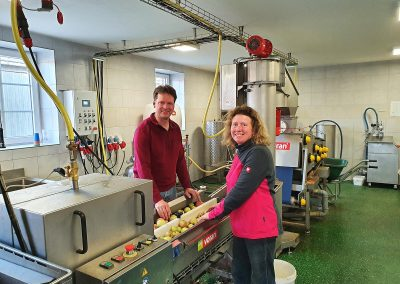 Mosterei Post Altenberge - Blick in die Mosterei für Apfelsaft