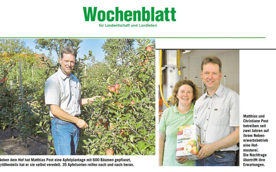 Saft vom Hof – Wochenblatt für Landwirtschaft und Landleben berichtet über die Mosterei Post